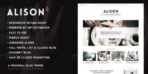 Alison Personal Blog Theme