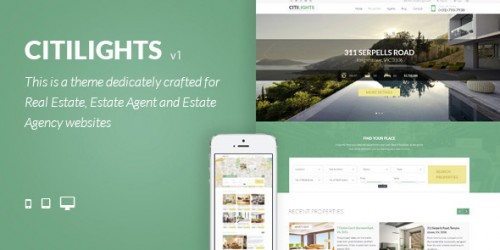 citilights real estate theme