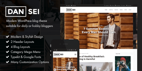 Dansei WordPress Theme