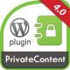 Private content for wordpress